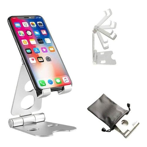 SaharaCase - Foldable Stand - for Most CellPhones and Tablets - Silver - Sahara Case LLC