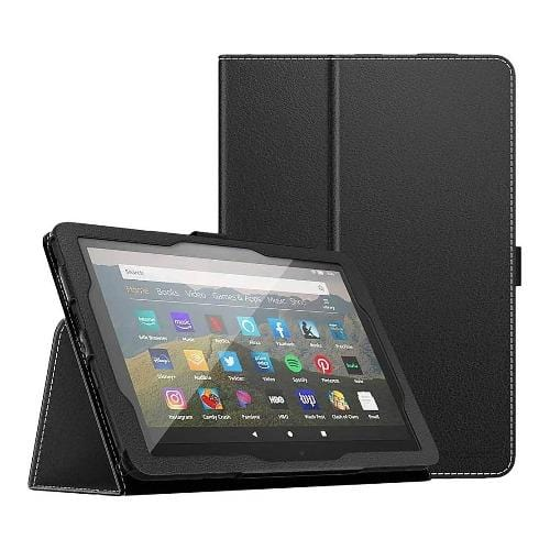 SaharaCase - Folio Series Case - for Amazon Fire HD 8 and Fire HD 8 Plus (10th Gen 2020) - Black - Sahara Case LLC