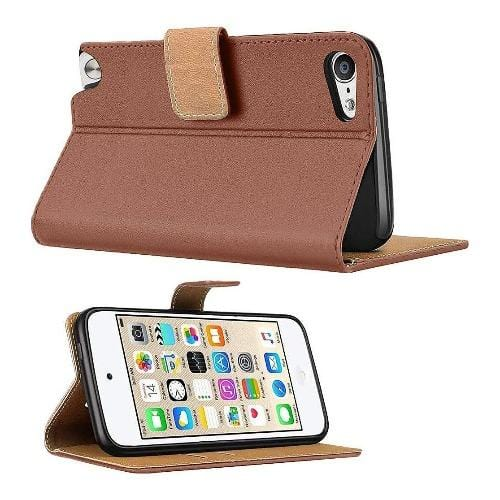 SaharaCase Folio Series Case - for Apple iPod Touch (6th and 7th Gen) - Brown - Sahara Case LLC