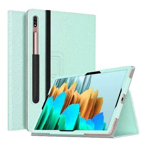 SaharaCase - Folio Series Case - for Samsung Galaxy Tab S7 Plus - Mint/Teal - Sahara Case LLC