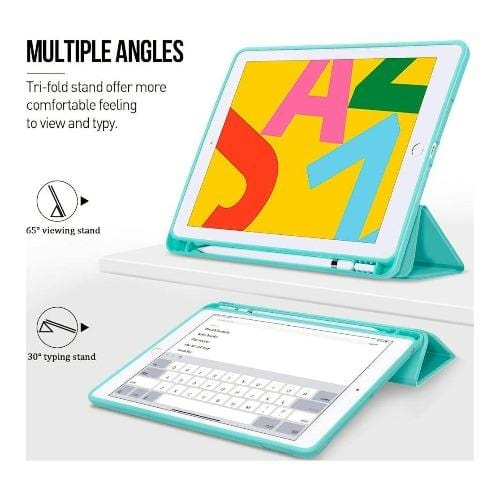 "SaharaCase - Folio Series Case - iPad 10.2"" - Aqua Teal - Sahara Case LLC"