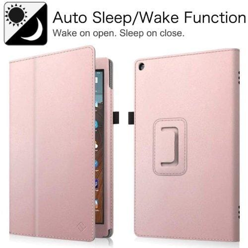 SaharaCase - Folio Series Case - Kindle Fire HD 10 (2019) - Rose Gold - Sahara Case LLC