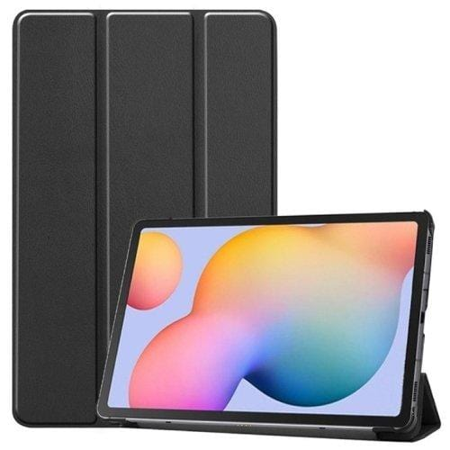 Black military-grade Samsung Galaxy Tab S6 Lite Case - Folio Series Case