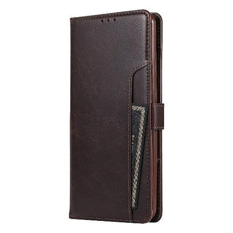 SaharaCase - folio Wallet Case - for Samsung Galaxy Note20 5G - Brown