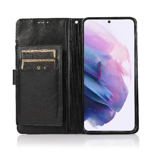 SaharaCase - Folio Wallet Series Case - for Samsung Galaxy S21 Ultra 5G - Black - Sahara Case LLC