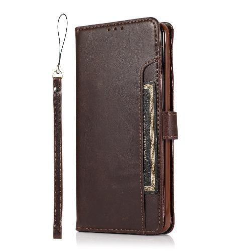 SaharaCase - Folio Wallet Series Case - for Samsung Galaxy S21 Ultra 5G - Brown - Sahara Case LLC