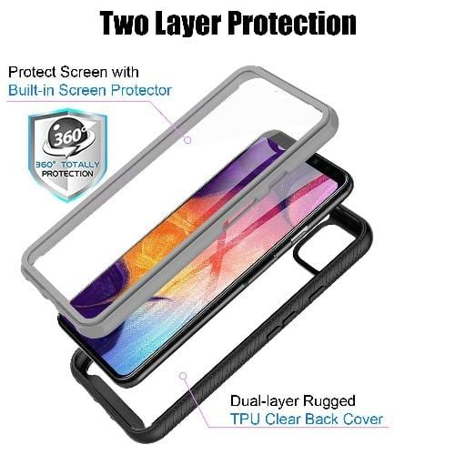 SaharaCase Full Protection Series Case - for Google Pixel 4 - Black Clear - Sahara Case LLC