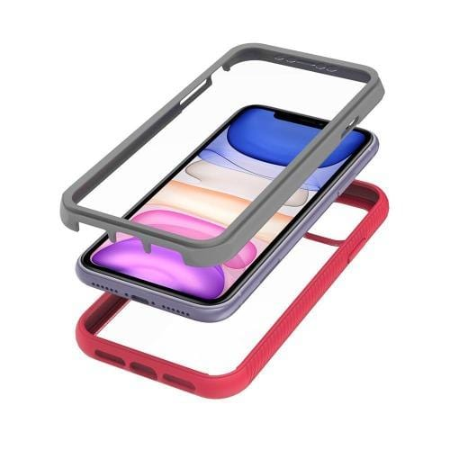"SaharaCase - Full Protection Series Case with Built-in Screen Protector - iPhone 11 6.1"" - Rose Clear - Sahara Case LLC"