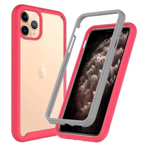 "SaharaCase - Full Protection Series Case with Built-in Screen Protector - iPhone 11 Pro 5.8""- Rose Clear - Sahara Case LLC"