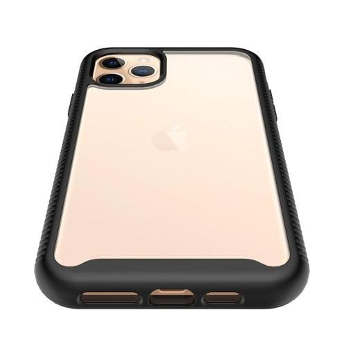 "SaharaCase - Full Protection Series Case with Built-in Screen Protector - iPhone 11 Pro Max 6.5"" - Scorpion Black Clear - Sahara Case LLC"
