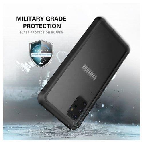 SaharaCase - Full Protection Series OnlyCase - Galaxy S20+ Plus - Scorpion Black Clear - Sahara Case LLC