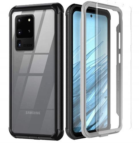 SaharaCase - Full Protection Series OnlyCase - Galaxy S20 Ultra - Scorpion Black Clear - Sahara Case LLC