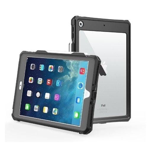 "SaharaCase - Full Protection Waterproof Series Case with Built-in Screen Protector - iPad 10.2"" - Clear Black - Sahara Case LLC"