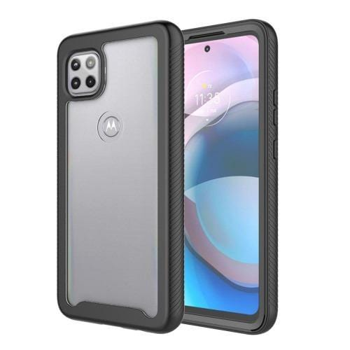 SaharaCase - Grip Series Case - for Motorola One 5G Ace - Black - Sahara Case LLC