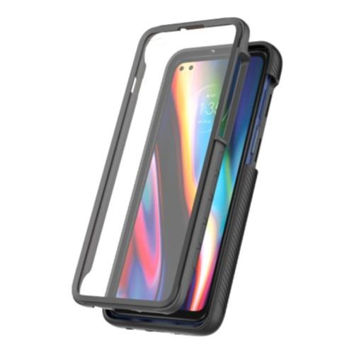 SaharaCase - GRIP Series Case - Motorola One 5G - Black - Sahara Case LLC