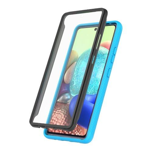 SaharaCase - Grip Series Case with built-in screen protector - for Samsung Galaxy A71 5G - Clear Aqua - Sahara Case LLC