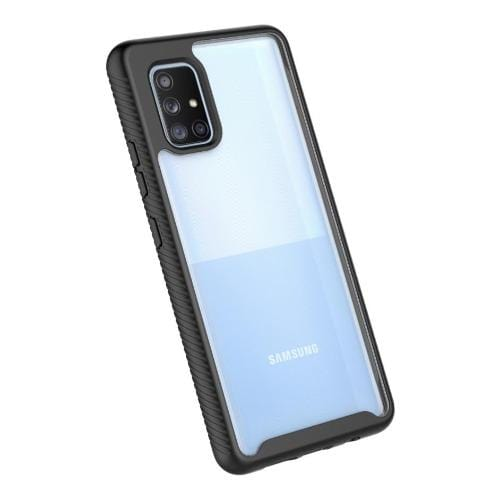 SaharaCase - Grip Series Case with built-in screen protector - for Samsung Galaxy A71 5G - Clear Black - Sahara Case LLC