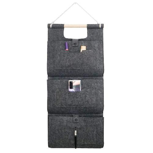 SaharaCase - Hanging Wall Storage Bag for Most Cell Phones and Tablets - Gray - Sahara Case LLC