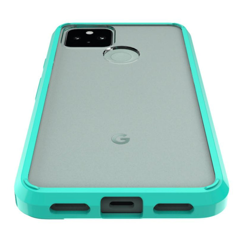SaharaCase - Hard Shell Case - Google Pixel 5 - Clear Teal - Sahara Case LLC