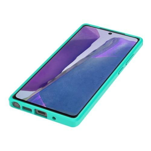 SaharaCase - Hard Shell Series Case - for Samsung Galaxy Note 20 5G - Teal/Clear - Sahara Case LLC