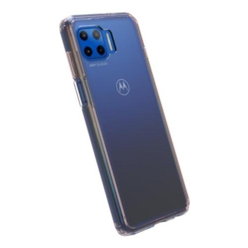 SaharaCase - Hard Shell Series Case - Motorola One 5G - Clear Rose Gold - Sahara Case LLC
