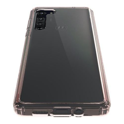 SaharaCase - HardShell Case - for Motorola Moto Edge 5G - Clear Rose Gold - Sahara Case LLC