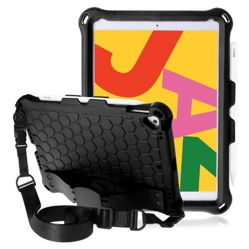 "Black Apple iPad 10.2"" Rugged Case - Heavy Duty Series"