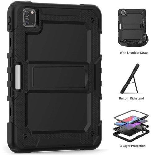 "SaharaCase - Heavy Duty Series Case with Built-in Screen Protector - iPad Pro 11"" (2020) - Scorpion Black - Sahara Case LLC"