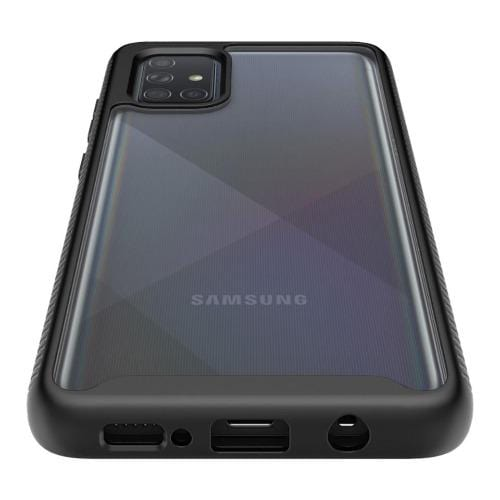 SaharaCase - Heavy Duty Series Case with built-in screen protector - Samsung Galaxy A71 4G - Clear Black - Sahara Case LLC