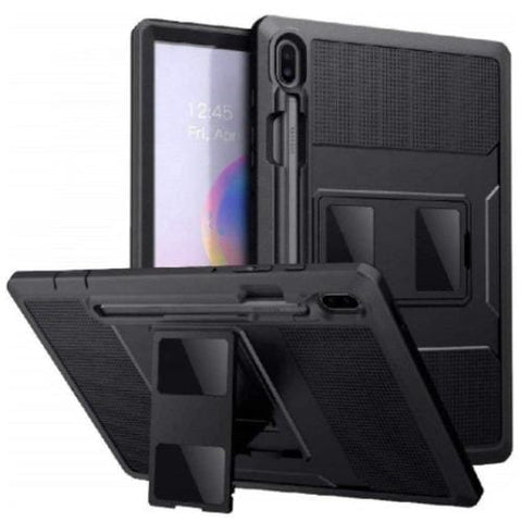 "Samsung Tab S6 10.5"" Case and Screen Protector in Scorpion Black - Heavy Duty Series"