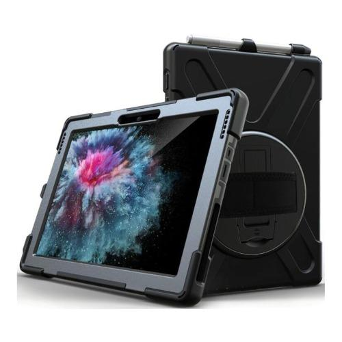 SaharaCase - Heavy Duty Series Case with Handstrap - Microsoft Surface Pro 7 - Scorpion Black - Sahara Case LLC