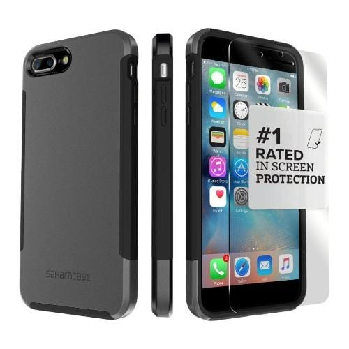 SaharaCase - Inspire Series Case - iPhone 8/7 Plus - Mist Gray - Sahara Case LLC