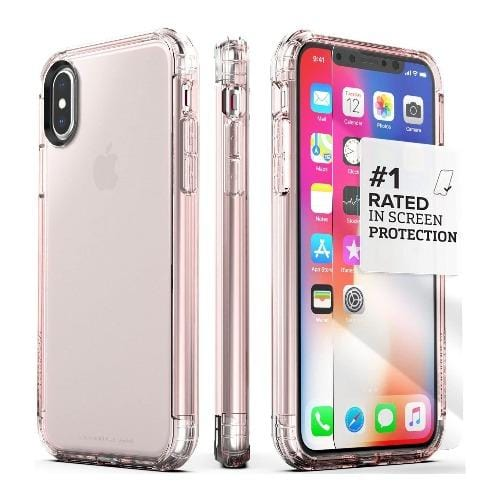 SaharaCase - Inspire Series Case - iPhone X/XS - Clear Rose Gold - Sahara Case LLC