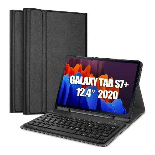 SaharaCase - Keyboard Folio Case for Samsung Galaxy Tab S7 Plus - Black - Sahara Case LLC
