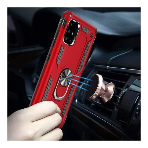 SaharaCase - Kickstand Series Case - for Samsung Galaxy A71 5G - Red - Sahara Case LLC