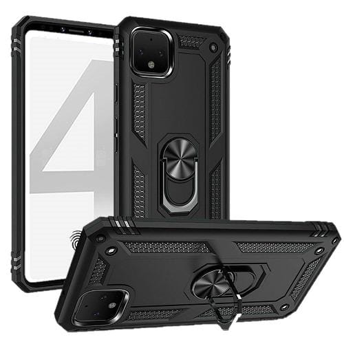 SaharaCase Military Kickstand Series Case - for Google Pixel 4 - Black - Sahara Case LLC
