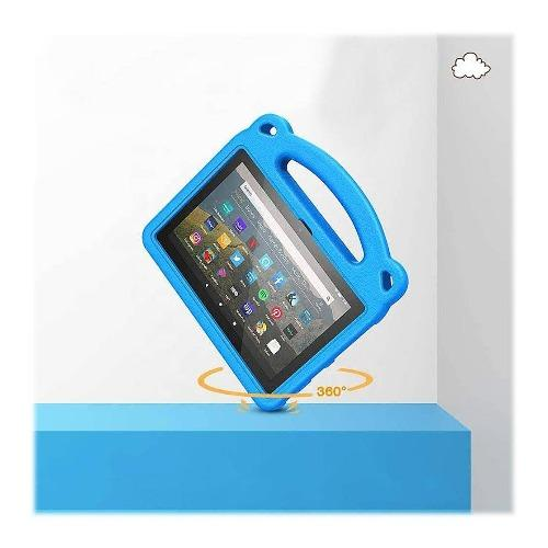 SaharaCase - KidProof Case - for Amazon Kindle Fire HD 8 2020 and HD 8 Plus - Blue - Sahara Case LLC