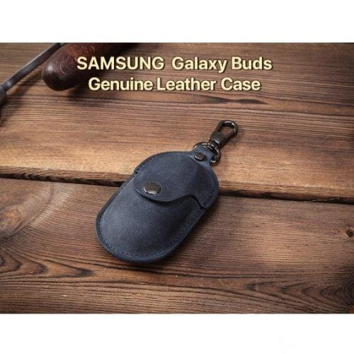 SaharaCase - Leather Case for Samsung Buds Plus - Blue - Sahara Case LLC