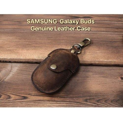 SaharaCase - Leather Case for Samsung Buds Plus - Brown - Sahara Case LLC