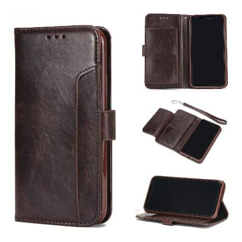"SaharaCase Leather Folio Case for iPhone 11 6.1"" Brown - Sahara Case LLC"