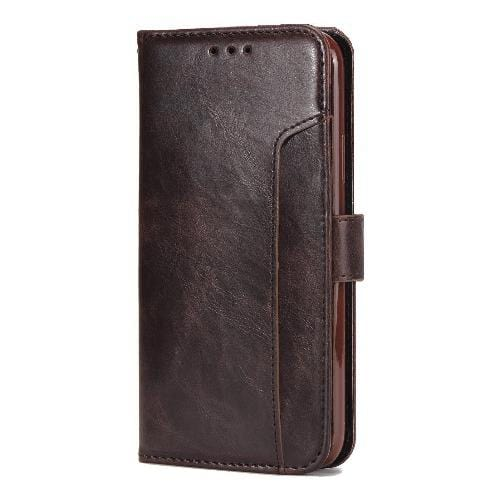 "SaharaCase Leather Folio Case for iPhone 11 Pro Max 6.5"" Brown - Sahara Case LLC"