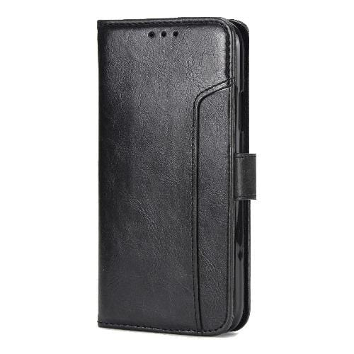 "SaharaCase Leather Folio Case iPhone 11 6.1"" Black - Sahara Case LLC"