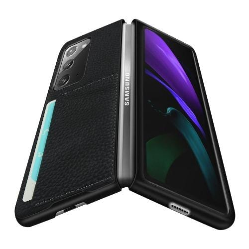 SaharaCase - Leather Series Case for Samsung Galaxy Z Fold2 5G - Black - Sahara Case LLC