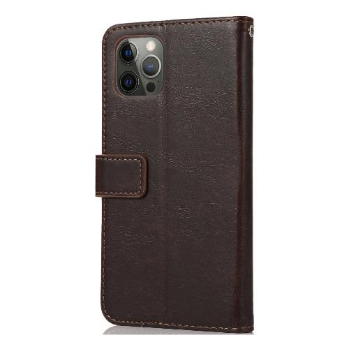 "SaharaCase - Leather Wallet Series Case - iPhone 12 & iPhone 12 Pro 6.1"" - Brown - Sahara Case LLC"