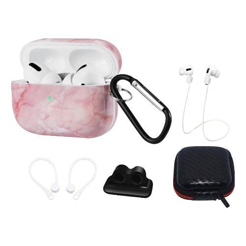 SaharaCase - Marble Pink Case Apple Airpods Pro - Sahara Case LLC