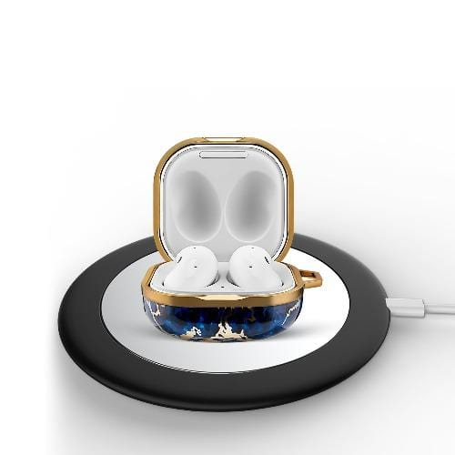 SaharaCase Marble Series Case for Samsung Galaxy Buds Live - Blue - Sahara Case LLC