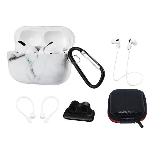 SaharaCase - Marble White Case Apple Airpods Pro - Sahara Case LLC