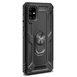 SaharaCase - Military Kickstand Series Case with Belt Clip - Samsung Galaxy A71 4G - Scorpion Black - Sahara Case LLC