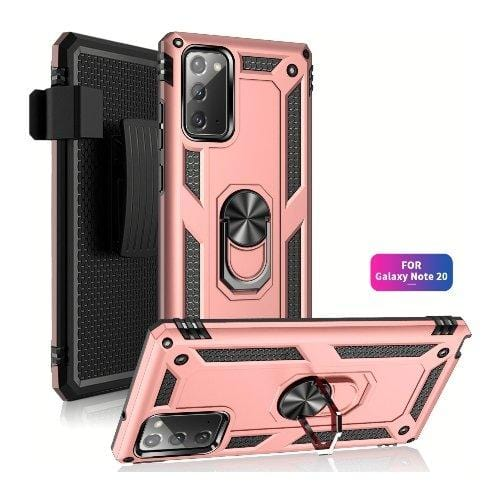SaharaCase - Military Kickstand Series Case - for Samsung Galaxy Note 20 5G - Rose Gold - Sahara Case LLC