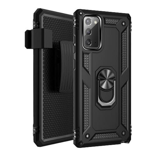 SaharaCase - Military Kickstand Series Case for Samsung Galaxy Note20 - Black - Sahara Case LLC